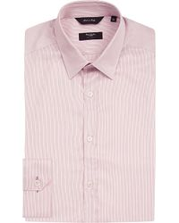 Paul Smith | Striped Tailored-fit Cotton-twill Shirt, Men's, Size: 17, Pink for Men | Lyst