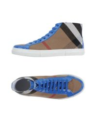 Burberry - Blue High-tops & Trainers - Lyst