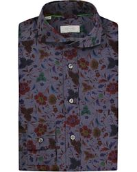 Eton of Sweden | Blue Slim Fit Floral Print Italian Woven Shirt for Men | Lyst