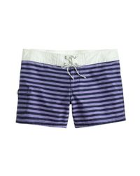 J.Crew | Purple Striped Board Short | Lyst