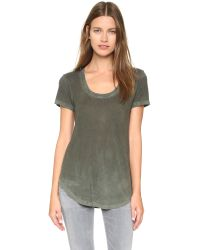 Cotton Citizen | Green The Mykonos Scoop Tee - Military | Lyst