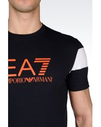 EA7 - Black 7colours Line Jersey T-shirt for Men - Lyst