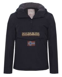 Napapijri | Black Hooded Thermal Rainforest Jacket for Men | Lyst