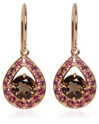 Dinny Hall - Pink Rose Gold Vermeil Smoky Quartz Paola Earrings - Lyst