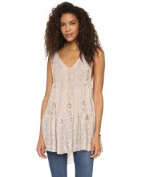 Free People | Natural Say It With A Layer Tunic | Lyst