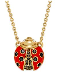 kate spade new york | Red Gold-tone Little Ladybug Mini Pendant Necklace | Lyst