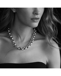 David Yurman   Metallic Round Large Link Necklace   Lyst