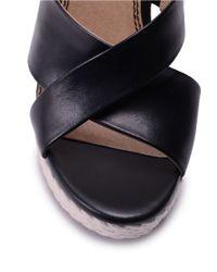 Splendid | Black Dinah Wedge Sandals | Lyst