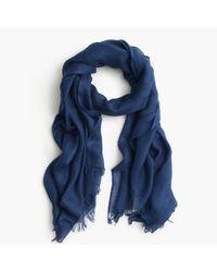 J.Crew | Blue Refined Silk-cashmere Wrap | Lyst