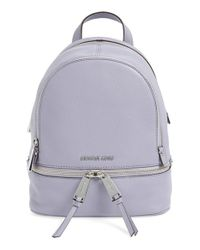 MICHAEL Michael Kors | Green 'extra Small Rhea' Leather Backpack | Lyst