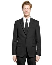 Givenchy Black Stretch Wool Suit for men