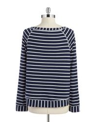Splendid | Blue Striped Boatneck Top | Lyst