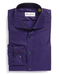 Robert Graham | Purple Regular Fit Dress Shirt for Men | Lyst