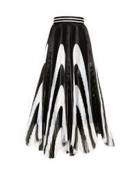 Alice + Olivia - Black Nicole Mid Length Skirt - Lyst