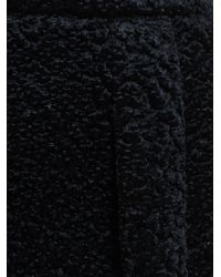 Carven - Black Textured Velvet Pleated Mini Skirt - Lyst
