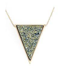 Marcia Moran | Metallic Drusy Pendant Necklace | Lyst