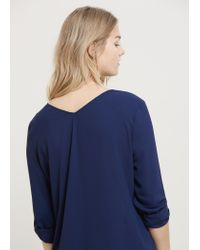 Violeta by Mango - Blue Flowy Blouse - Lyst