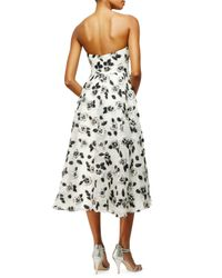 Lela Rose - White Floral Fil Coupe Dress - Lyst