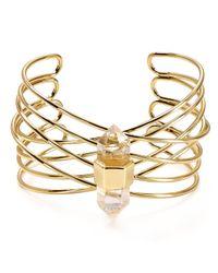 Aqua | Metallic Hedi Stone Cuff | Lyst
