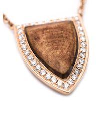 Anita Ko | Pink Small Wood Pendant Necklace | Lyst
