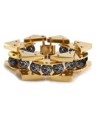 Lele Sadoughi | Metallic Stone Satellite Bracelet, Pave Hematite | Lyst