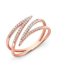 Anne Sisteron | Pink 14kt Rose Gold Diamond Spike Wrap Ring | Lyst
