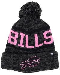 47 Brand - Pink Women's Buffalo Bills Northmont Pom Knit Hat - Lyst