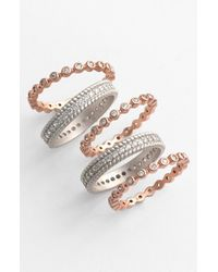 Freida Rothman | Pink Stackable Rings | Lyst