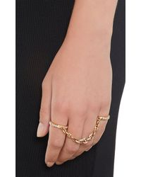 Hoorsenbuhs - Metallic Diamond Rose Gold Bonded Ring - Lyst