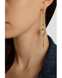 Marc By Marc Jacobs - Metallic Orbit Gold-Tone, Resin And Leather Earrings - Lyst