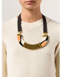 Marni | Metallic Resin Necklace | Lyst