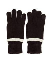 Ben Sherman - Black Striped Knit Gloves for Men - Lyst
