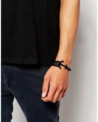 ASOS - Black Anchor Bracelet for Men - Lyst