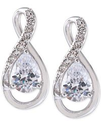 Carolee - Metallic Silver-tone Figure Eight Stud Earrings - Lyst