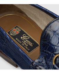 Gucci Blue 1953 Horsebit Loafer In Crocodile for men