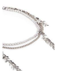 Venna - White Zircon Star Leaf Fringe Necklace - Lyst