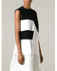 J.W.Anderson - Black Frilled Sleeveless Top - Lyst