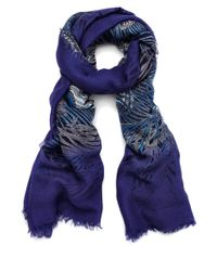 Liberty - Dark Blue Hera Modal-Blend Scarf for Men - Lyst