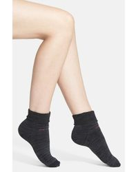 Calvin Klein - Gray Padded Terry Cuff Ankle Socks - Lyst