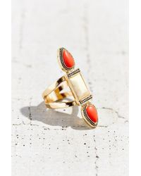 Urban Outfitters | Red Triple Stone Ring | Lyst