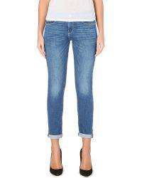 FRAME | Blue Le Garcon Slim Boyfriend Mid-rise Jeans | Lyst