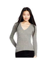 Polo Ralph Lauren | Gray Wool Blend V-neck Sweater | Lyst