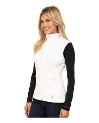 Spyder | White Melody Full Zip Mid Weight Core Sweater Vest | Lyst