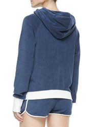 Marc By Marc Jacobs - Blue Jodie Velour Hooded Pullover - Lyst