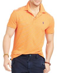 Polo Ralph Lauren | Orange Striped Performance Polo for Men | Lyst