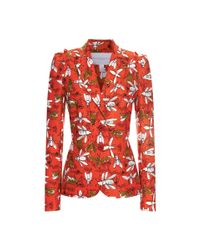 Carolina Herrera | Multicolor Insect-print Two-button Jacket | Lyst
