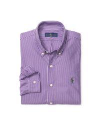 Polo Ralph Lauren - Purple Striped Cotton Interlock Shirt for Men - Lyst