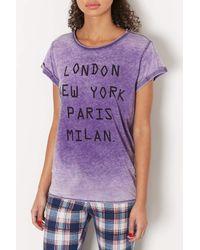 TOPSHOP | Purple Cities Tee | Lyst