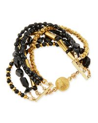 Dina Mackney - Metallic Spinel & Onyx Multi-row Bracelet - Lyst