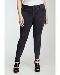Forever 21 | Gray Plus Size Mineral Wash Skinny Jeans | Lyst